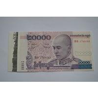 Камбоджа 20000 риелей образца 2008 года UNC p60