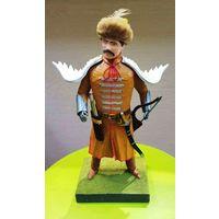 Фигурка(солдатик) ручной работы из папье-маше Лисовчик(конный воин Речи Посполитой в войне 1654-1667))