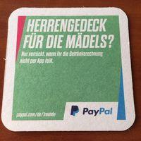 Подставка под пиво PayPal