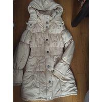 Пальто с капюшоном Vila цвета пыльной розы