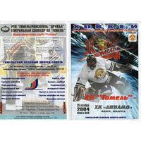 Хоккей. Программа. Гомель - Динамо (Минск).2004.