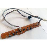 Плата с тактовыми и выключателем с фиксацией (от монитора)