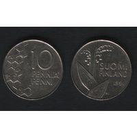 Финляндия km65 10 пенни 1991 год (M) (f312)