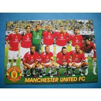 Футбольная карточка ФК Манчестер Юнайтед Лига чемпионов 2005/2006 гг.