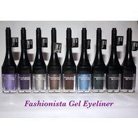 Стойкая гелевая ПОДВОДКА с кистью Fashionista Fashion Secret Gel Eyeliner 5 оттенков