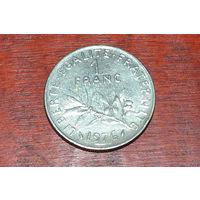 1 франк 1976 Франция KM # 925.1 никель