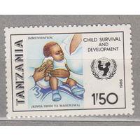 U.N.I.C.E.F. Кампания по выживанию детей Танзания 1986 год лот 1062 ЧИСТАЯ