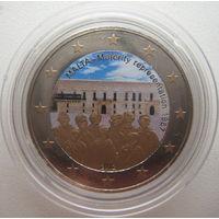 Мальта 2 евро 2012 г. Конституция Мальты. Совет большинства 1887. Цветная (a)
