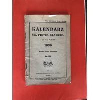 Kalendarz Sw. Piotra Klawera na rok 1936