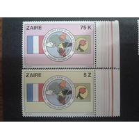 Заир 1982 флаг, конф. африк. стран