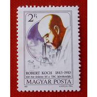 Венгрия. Роберт Кох. ( 1 марка ) 1982 года.