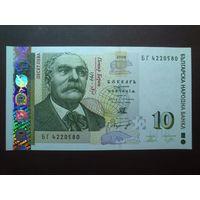 Болгария 10 левов.Серия 2008 г.UNC.