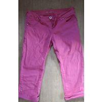 Бриджи джинс цвет фуксии