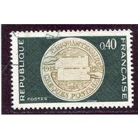 Франция. Медаль  50 лет почтовой службы