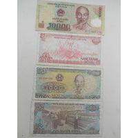 Вьетнам 10000, 2000, 1000,500 донг.