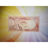 Колумбия 100 песо 1988г