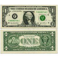 США. 1 доллар (образца 2003 года, 2003A, F, Джорджия, P515b)