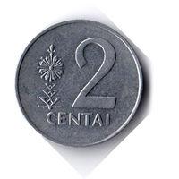 Литва. 2 цента. 1991 г.