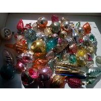 Большой лот новогодних игрушек одним лотом 55 шт с 1 рубля без мц