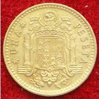 6799:  1 песета 1975 (79) Испания КМ# 806 алюминиевая бронза