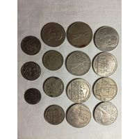 Рубли, монеты СССР и Польши