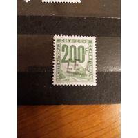 1944 Франция марка оплаты пересылки посылок (пакетов) по железной дороге поезд паровоз Ивер 24 (3-6)