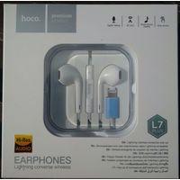 """Наушники - """"Hoco L7 Plus"""", Lightning, для iPhone, новые ; 15 руб"""