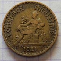 Франция 1 франк 1921г. Меркурий.