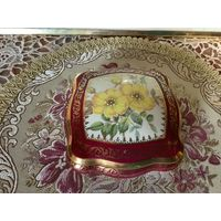 Шкатулка Дикая Роза ручная роспись Лимож Франция