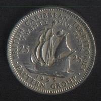 Карибы 25 центов 1955 г. Сохран!!!