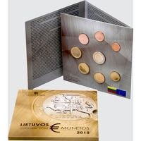 Литва набор евро монет 2015 BU