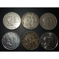 Филиппины 1 песо (список)