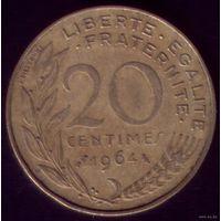 20 сантимов 1964 год Франция