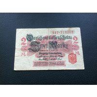 Германия,2марки,1914,красная печать.