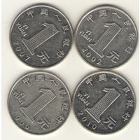 1 йюань 2002, 2006, 2007, 2010 г.