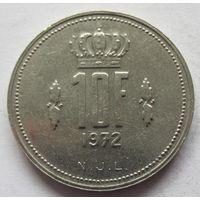 Люксембург 10 франков 1972