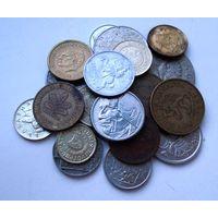 Европа. 20 монет разных стран.
