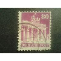 Германия 1948 Бизония L11 80 пф. Бранденбургские ворота