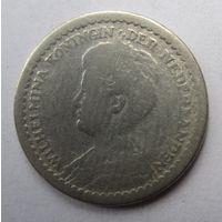 Нидерланды. 10 центов 1914. Серебро. 241