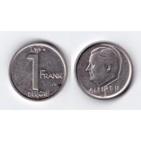 Бельгия 1 франк 1994 и 1997 (два варианта написания)