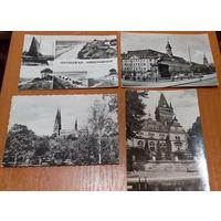 Старт- 2 руб/шт. Лот открыток с пейзажами Европейских городов. Распродажа коллекции!
