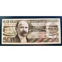 РАСПРОДАЖА С 1 РУБЛЯ!!! Мексика 500 песо 1984 год UNC