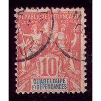 1 марка 1900 год Гваделупа 41