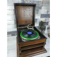 Антикварный кабинетный Граммофон графанола Оригинал Отличная Сохранность