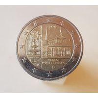 2 евро Германия 2013 F Федеральные земли Баден Вюрттенберг