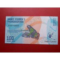 Банкнота 100 ариари Мадагаскар.