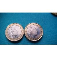 Люксембург 1 евро 2014г . распродажа