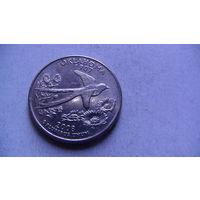 США 25 центов 2008г OKLAHOMA (D)  распродажа