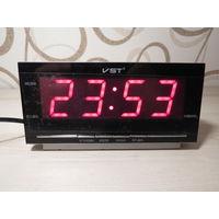 Настольные Сетевые LED часы VST-778T, Говорящие