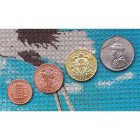 Бутан набор монет 5, 10, 25, чертум 1979 года; 1/2 рупии 1950 года, UNC.